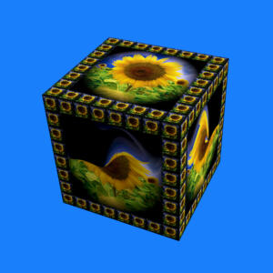 Ausstellung-Glasobjekte 01-Sonnenblumen
