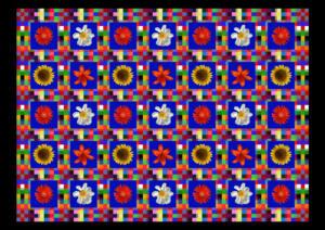 Fliesen009a-Bild012a-Flowers-Serie A-Bild 9Rand