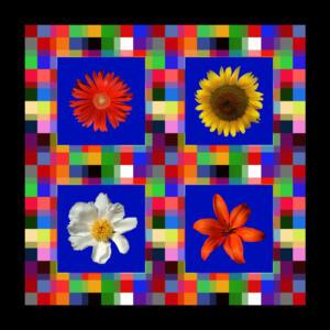 Fliesen009b-Bild012b-Flowers-Serie A-Bild 5Rand