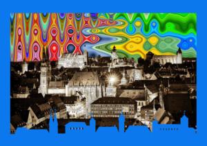 Ausstellung 04-Pop Art-Himmel ueber Nuernberg