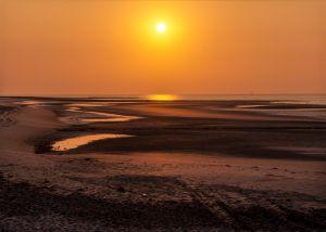 Wangerooge1997-Sonnenuntergang02 - Kopie