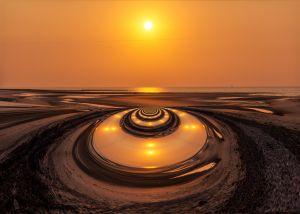 Wangerooge1997-Sonnenuntergang02b - Kopie