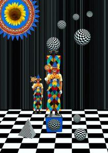 OpArt-Clown2