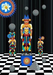 OpArt-Clown4